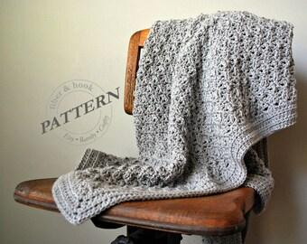 CROCHET PATTERN - Lullaby Blanket, Crochet Blanket Pattern, Crochet Baby Blanket Pattern, Lapgan Pattern, Crochet Throw (3 sizes) pdf# 042A