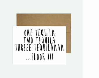 Funny birthday card cinderella is proof that a pair of shoes for 1 tequila 2 tequila 3 tequila floor song