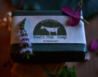 Rosemary Goat's Milk Soap, essential oil, 3oz bar,