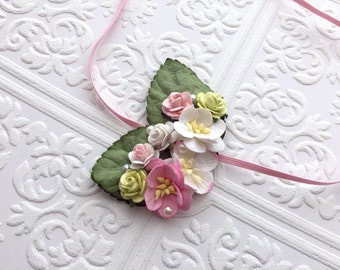 The Pink and Green Fairy Kissed Headband/Hair Clip