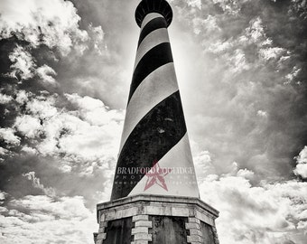 "Cape Hatteras Lighthouse (16"" x 24"" Sepia Matte Print)"