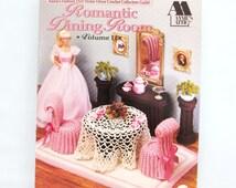Annie's Attic Romantic DiningRoom Vol II #526B Fashion Doll Crochet Pattern Barbie Craft Home Decor 1992 Plus Free Bonus PDF Crochet Pattern