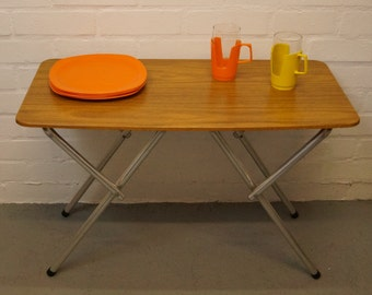 Vintage formica folding camping table