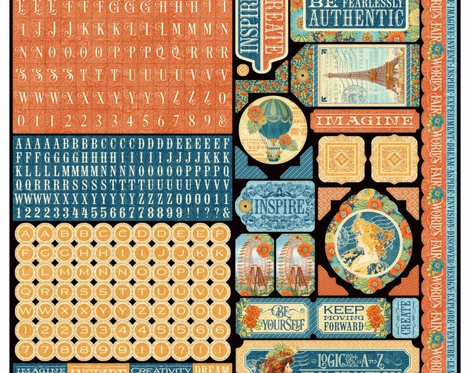 WORLD'S FAIR by Graphic 45 -World's Fair - (1) 12x12 Sticker Sheet