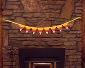 Candy Corn Bunting Candy Corn Banner Fall Bunting Fall Banner