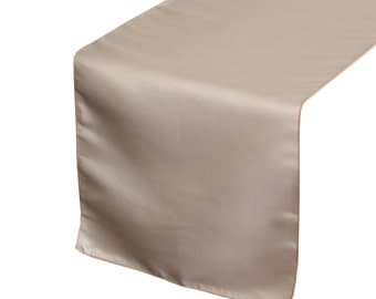 YCC Linen - Blush Lamour Satin Table Runner | Wedding Table Runner