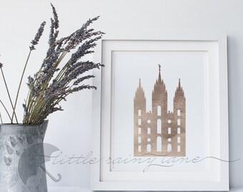 Salt Lake Temple, Salt Lake, Temple, LDS Art, LDS wall art, LDS Printable