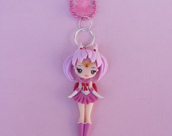 chibiusa necklace in fimo, polymer clay