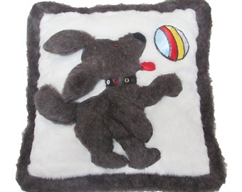 Chocolate Puppy Decorative Pillow