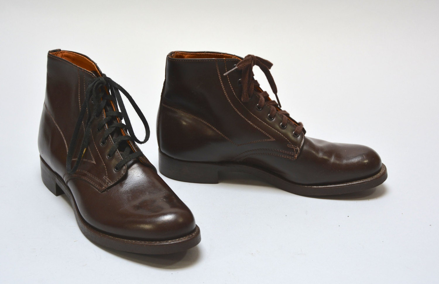 NOS 40s 50s Police Boots Deadstock Vintage Forties Fifties
