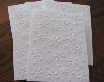 Snowflake Embossed Cards, Christmas Card Set,  Embossed Christmas Card Set, Holiday Cards, Christmas Card Boxed Sets, Holiday Card Set