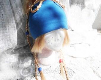 Rikku Wig Cosplay Final Fantasy X-2 Costume Hair Headband Braids Beads