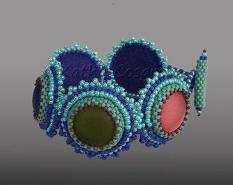 Solar Flair Bracelet - Bead Embroidery Tutorial
