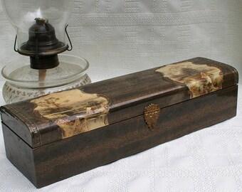Victorian Celluloid Glove Tie Box Dresser Box