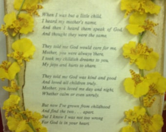 Lovely Mother Poem Plaque
