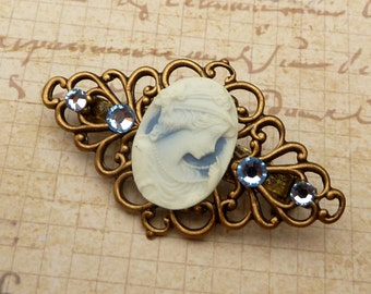 Brooch with cameo / antique style / three colors to choose from / Rose or lady