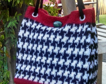 Hand Knit Felted Handbag