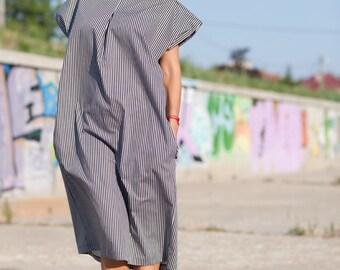 Loose Dress Maxi Dress Plus size Dress Day Dress Cotton Dress Stripe Dress