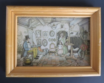 PAPER ART FRAME, Anton Pieck, Miniature, Shadow Box, Wall decor, Victorian, Vintage decor, Wall decor, Wall Hangings, Gift ideas