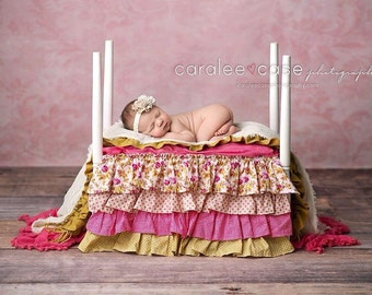 One-sided Bed Ruffle Photography Prop