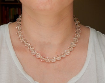 Faceted Glass Bead Necklace