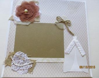 Shabby Chic Bride Scrapbook Page Complete Bride Scrapbook Page