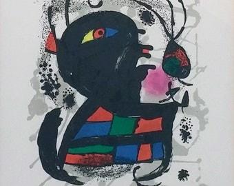 "Joan Miro ""Joan Miro Lthographs III, Pl. 6"" - 1977 - S/N Lithograph - COA - See Live at GallArt - Buy/Sell/Trade"