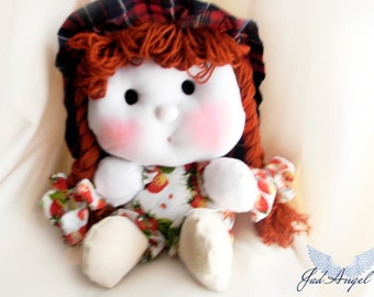 "Toys,Girl's Toys,Doll,Textile doll,decorative doll ,cotton doll  "" Mirunisa"""