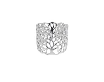 "Ring tree of life lace ""Tree of Chloe"" in sterling silver"