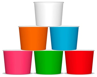100 12 oz Paper Hot / Cold Ice Cream Cups