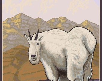 Montana - Mountain Goat (Art Prints available in multiple sizes)