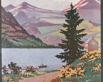 Auvergne, France - View of Lake Chambon near Mont-Dore (Art Prints available in multiple sizes)