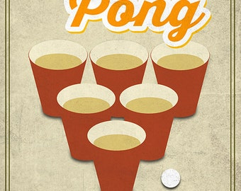 Beer Pong (Art Prints available in multiple sizes)