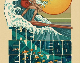 The Endless Summer - Underwater Scene - San Diego, CA (Art Prints available in multiple sizes)