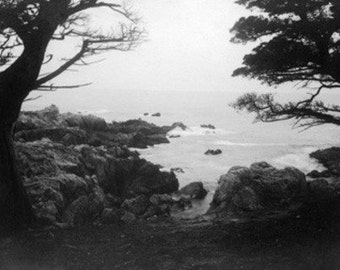 Carmel, California - View of Monterey Bay from 17 Mile Drive (Art Prints available in multiple sizes)