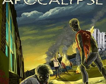 Oregon Coast - Zombie Apocalypse (Art Prints available in multiple sizes)