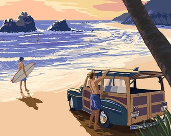 Woody and Beach - Maui, Hawaii (Art Prints available in multiple sizes)