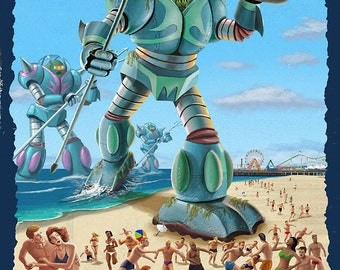 Jersey Shore, New Jersey - Invaders from the Deep (Art Prints available in multiple sizes)
