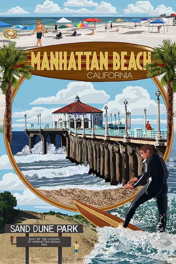 Manhattan Beach California Montage Scenes By