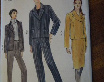 Vogue 7150, Sizes 8-12, misses, womens, teens, jacket, skirt, pants, UNCUT sewing pattern, craft supplies