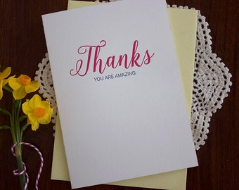 Thanks - Letterpress card