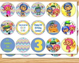Umizoomi Cupcake Toppers, Team Umizoomi, Umizoomi Birthday, Milli Cupcake Toppers, Geo Cupcake Toppers, Bot Cupcake Toppers