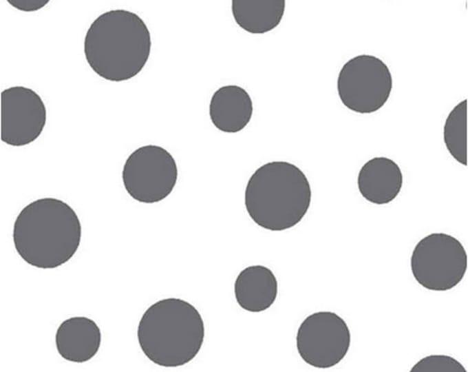 One Yard Daisy Mae - Kisses in Graphite Gray - Cotton Quilt Fabric - by E. Vive for Benartex Fabrics 1332-11 (W2821)