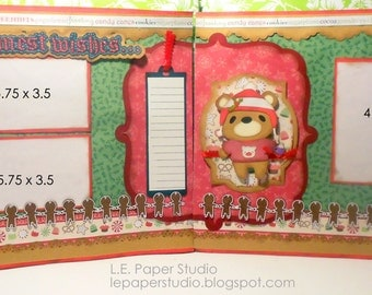 Christmas Teddy Bear Layout