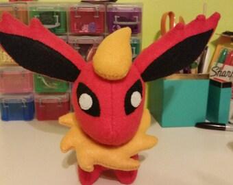 Felt Flareon Eeveelution Pokemon Plush
