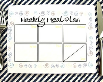 Weekly Meal Planner Printable Instant Download For Personal Use To Keep You Organized For The Week