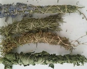 Dried herb bundles, Mint, Rosemary, Thyme & Lavender, natural air freshener, fragrant herb bundle, aromatic herbs, natural fire lighter