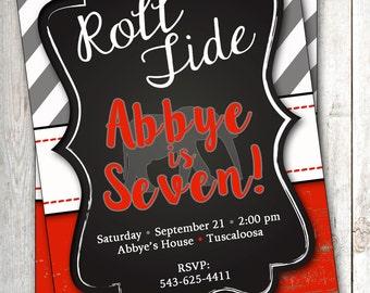 Alabama Crimson Tide Invitation Roll Tide Invitation Football Invitation Alabama Invitation Bama Invitation