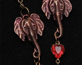 """Elephants love"" earrings"
