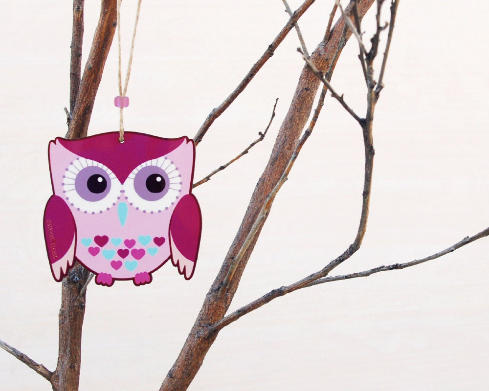 Woodland owl nursery decor pink purple owl wall decor girls - Girl owl decor ...